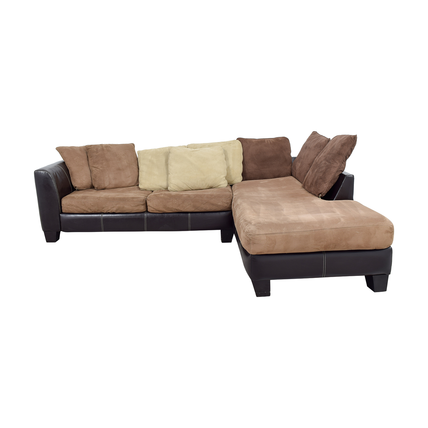 88 Off Albany Industries Brown Chaise Sectional