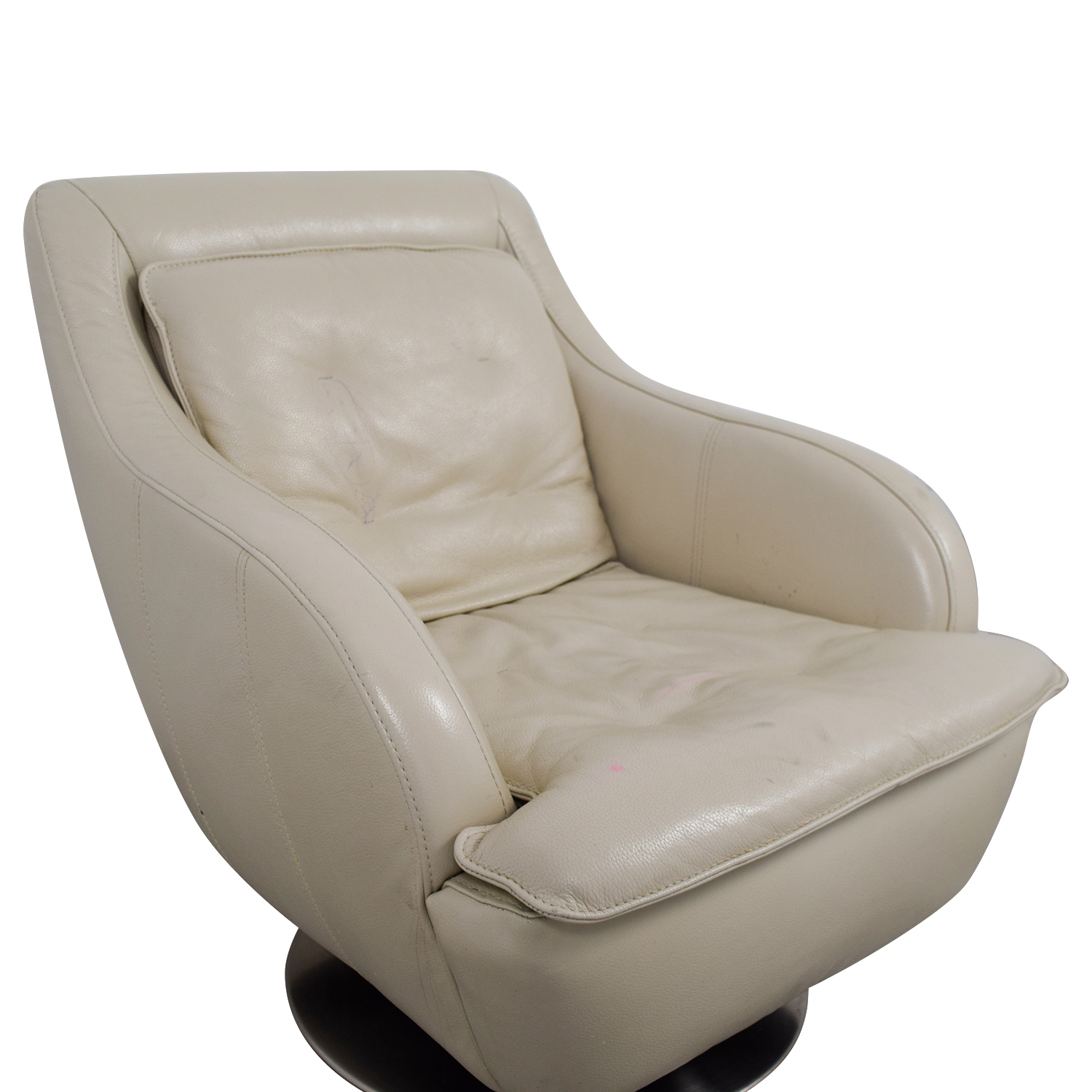 Small Leather Accent Chair