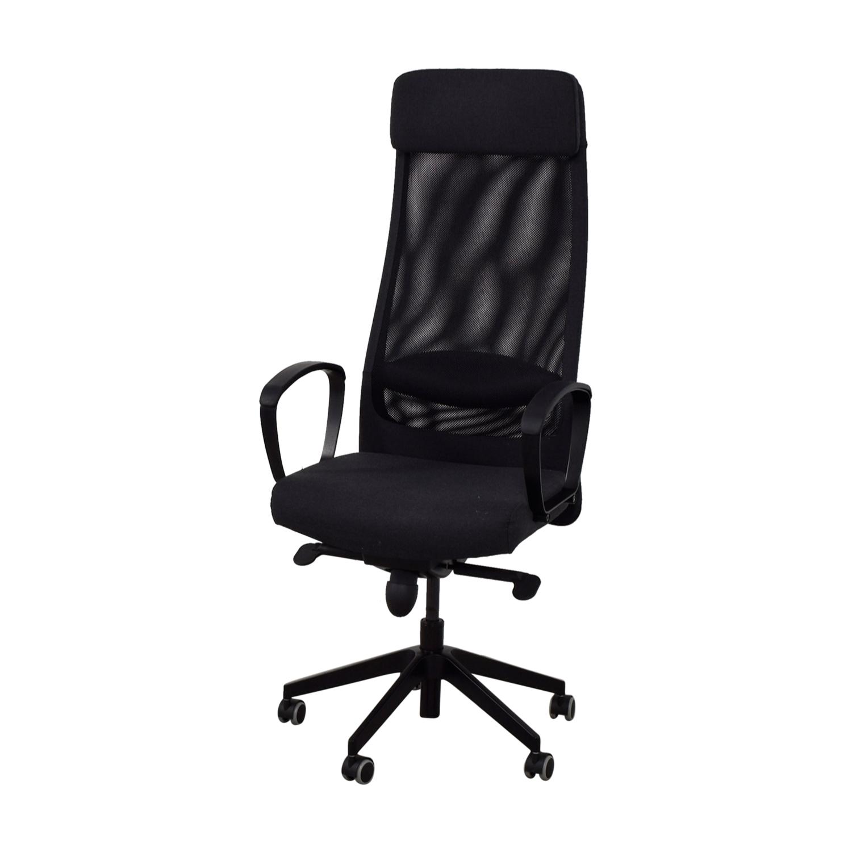 68 OFF IKEA IKEA Black Office Chair Chairs