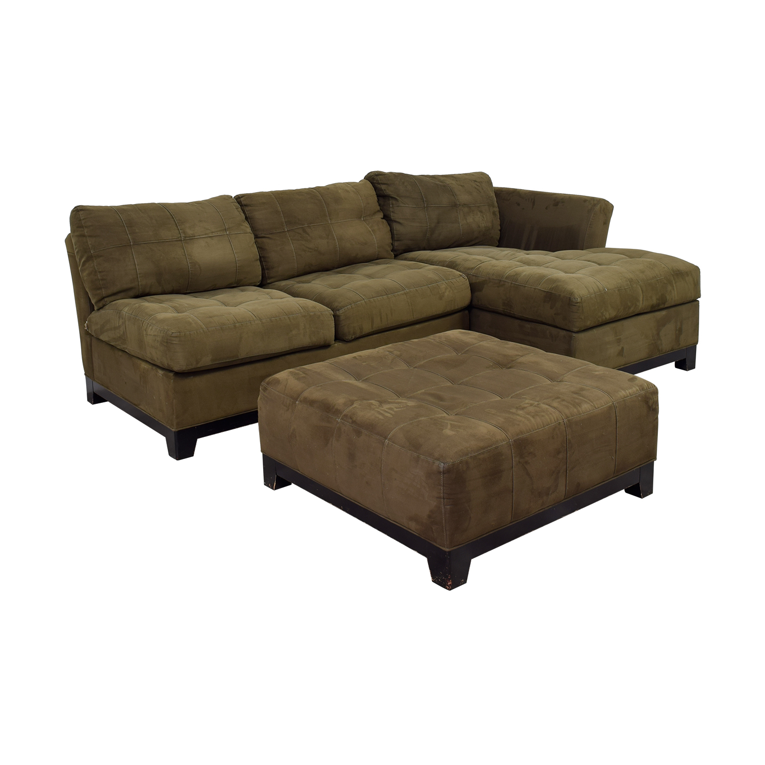 cindy crawford cindy crawford metropolis green chaise sectional with ottoman coupon