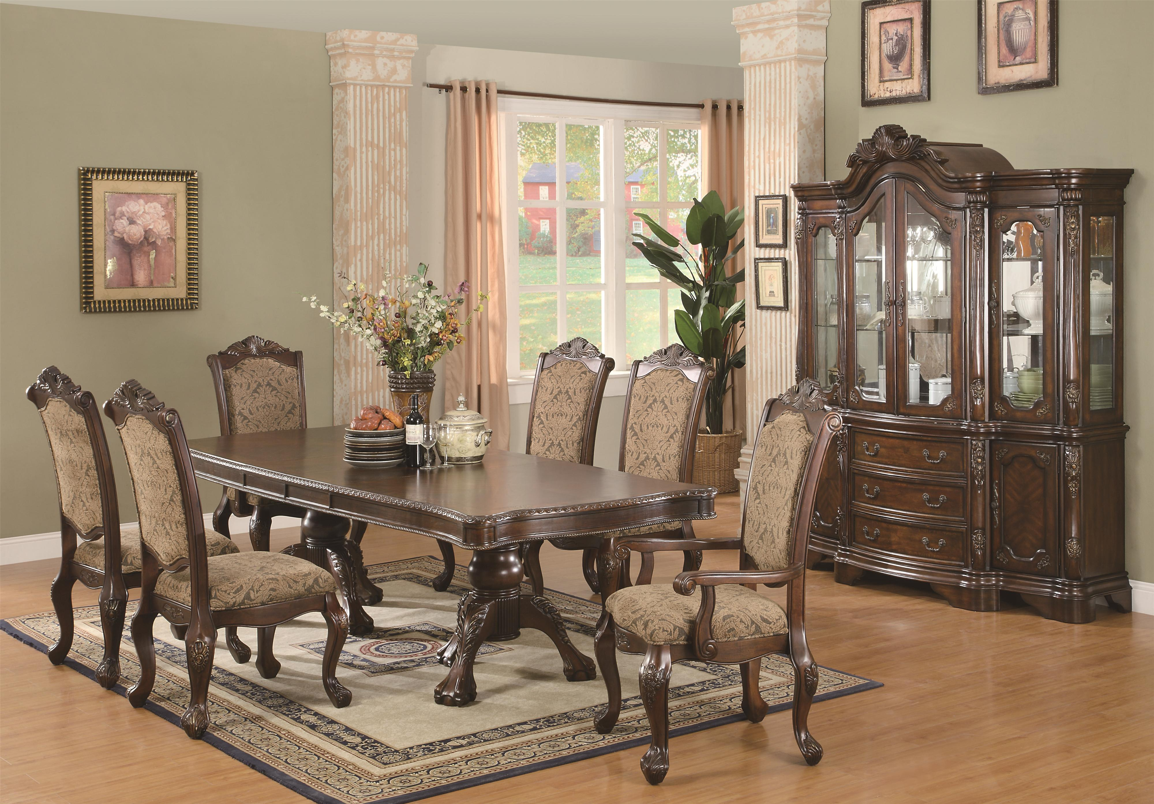 Coaster Andrea 7 Piece Double Pedestal Dining Table and Cushion Back     Coaster Andrea 7 Piece Double Pedestal Dining Table and Cushion Back Chair  Set   Coaster Fine Furniture
