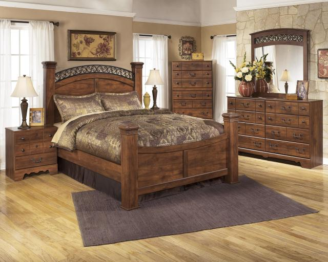 Signature Design by Ashley Timberline Queen Poster Bed Wayside