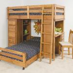 Trendwood Visions Twin Twin Lofted Bunk Bed With Desk And Chest End Compartments Bigfurniturewebsite Loft Beds