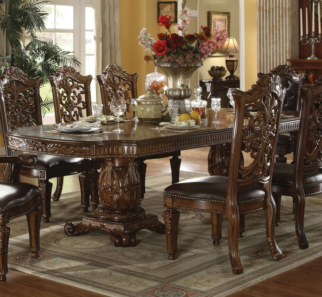 Acme Furniture Vendome 60000 Traditional Formal Dining Table Del Sol Furniture Dining Tables
