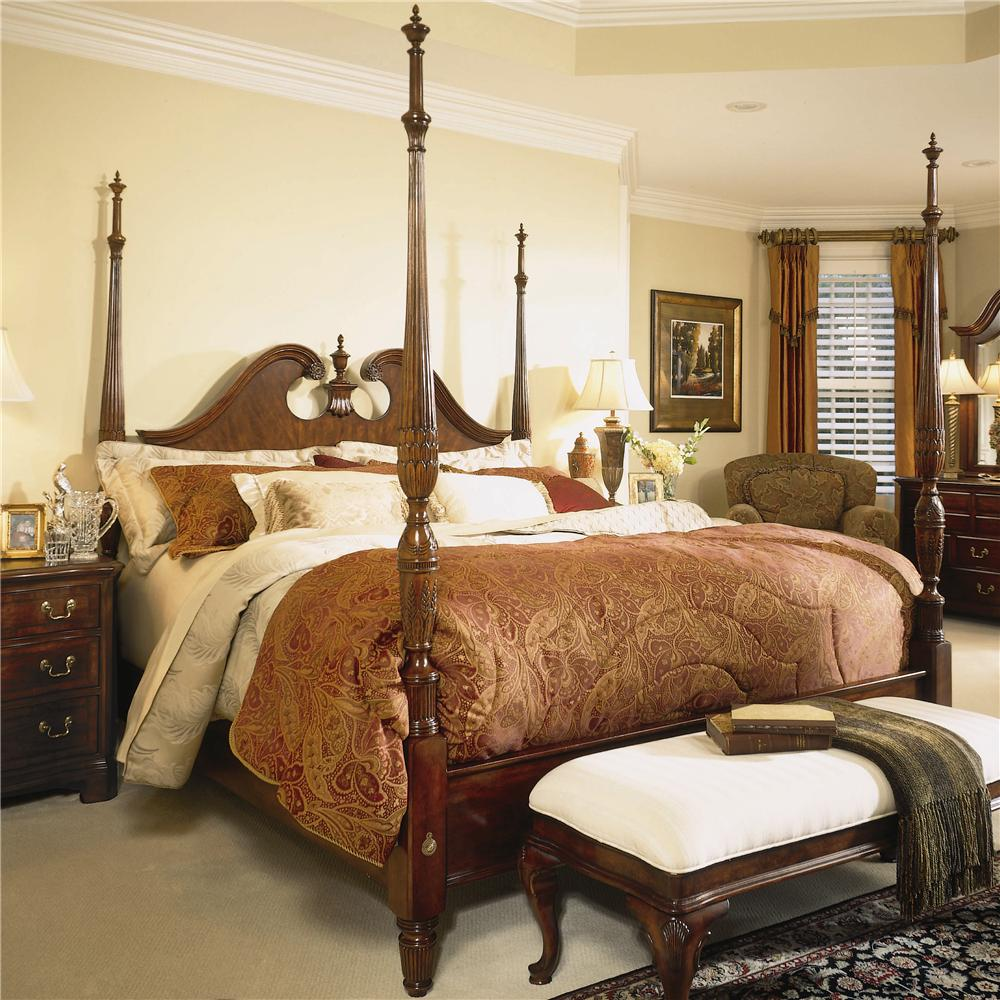 cherry grove 45th queen pediment poster bed