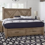 Artisan Post Cool Rustic 172 667 066b 502 666t Solid Wood King Barndoor X Bed With Storage Footboard Northeast Factory Direct Panel Beds
