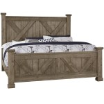 Artisan Post By Vaughan Bassett Cool Rustic 172 557 755 922 Solid Wood Queen Barndoor X Headboard And Footboard Bed Becker Furniture Panel Beds