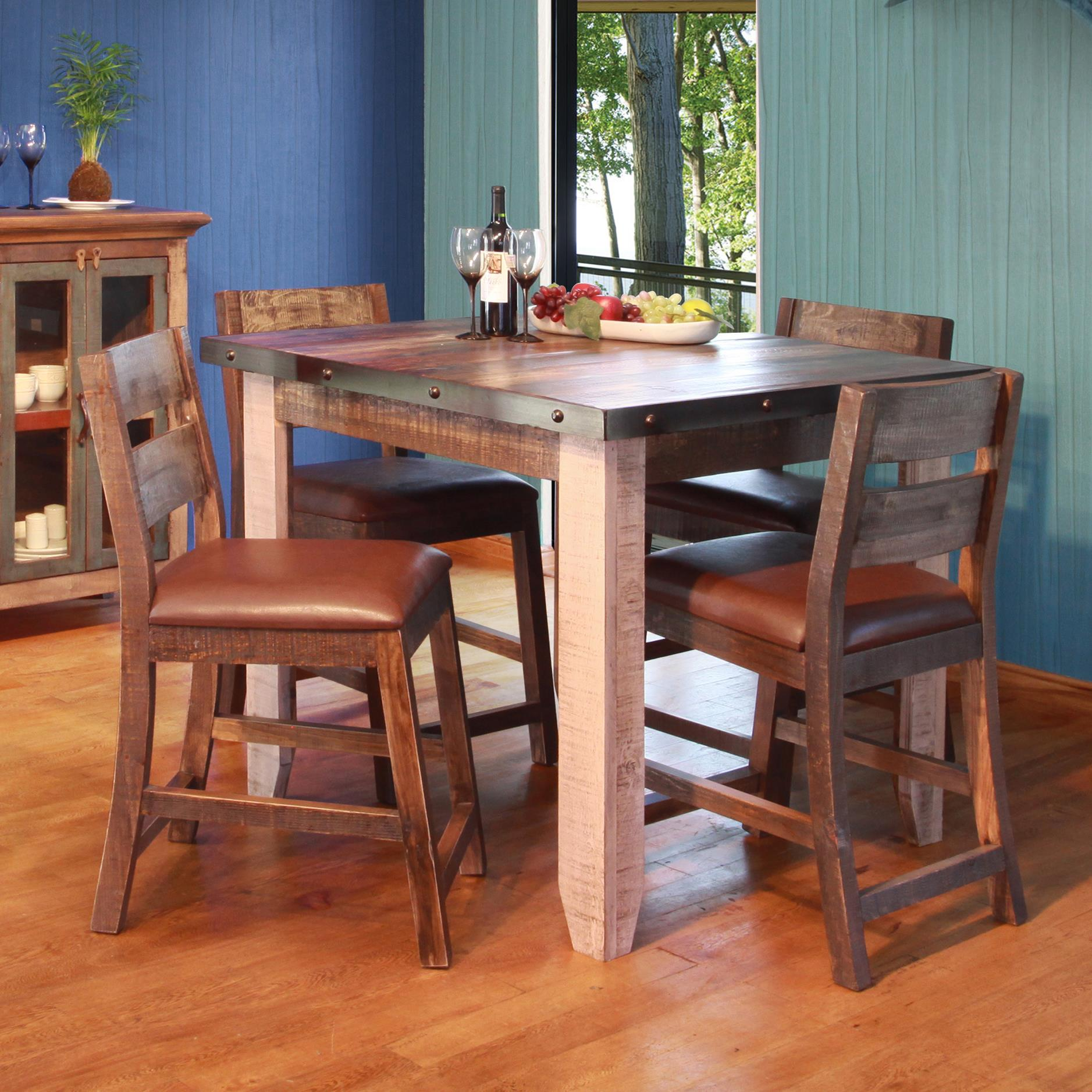 If 900 Antique 42 Counter Height Dining Table Set Lindy S Furniture Company Pub Table And Stool Sets