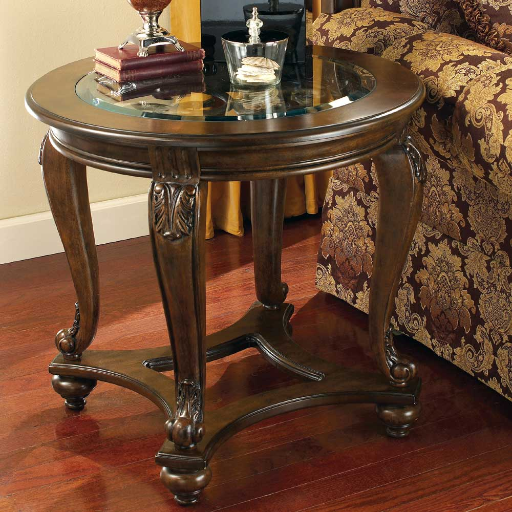 Signature Design By Ashley Norcastle Round End Table With