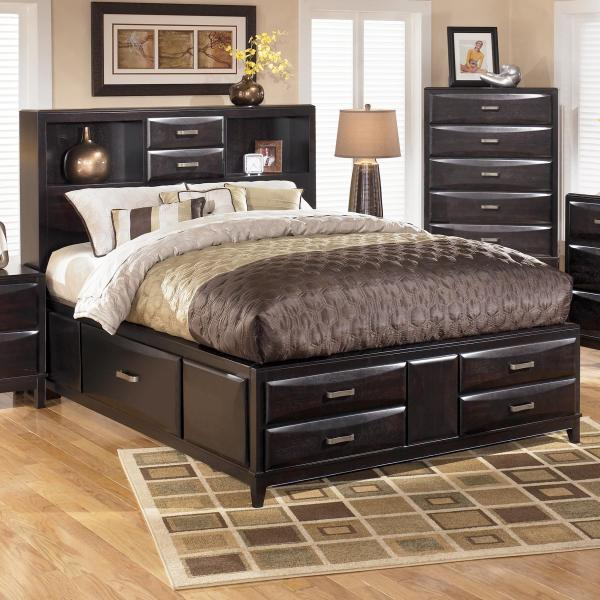 Ashley Furniture Kira Queen Storage Bed   Wayside Furniture     Ashley Furniture Kira Queen Storage Bed   Item Number  B473 65 64