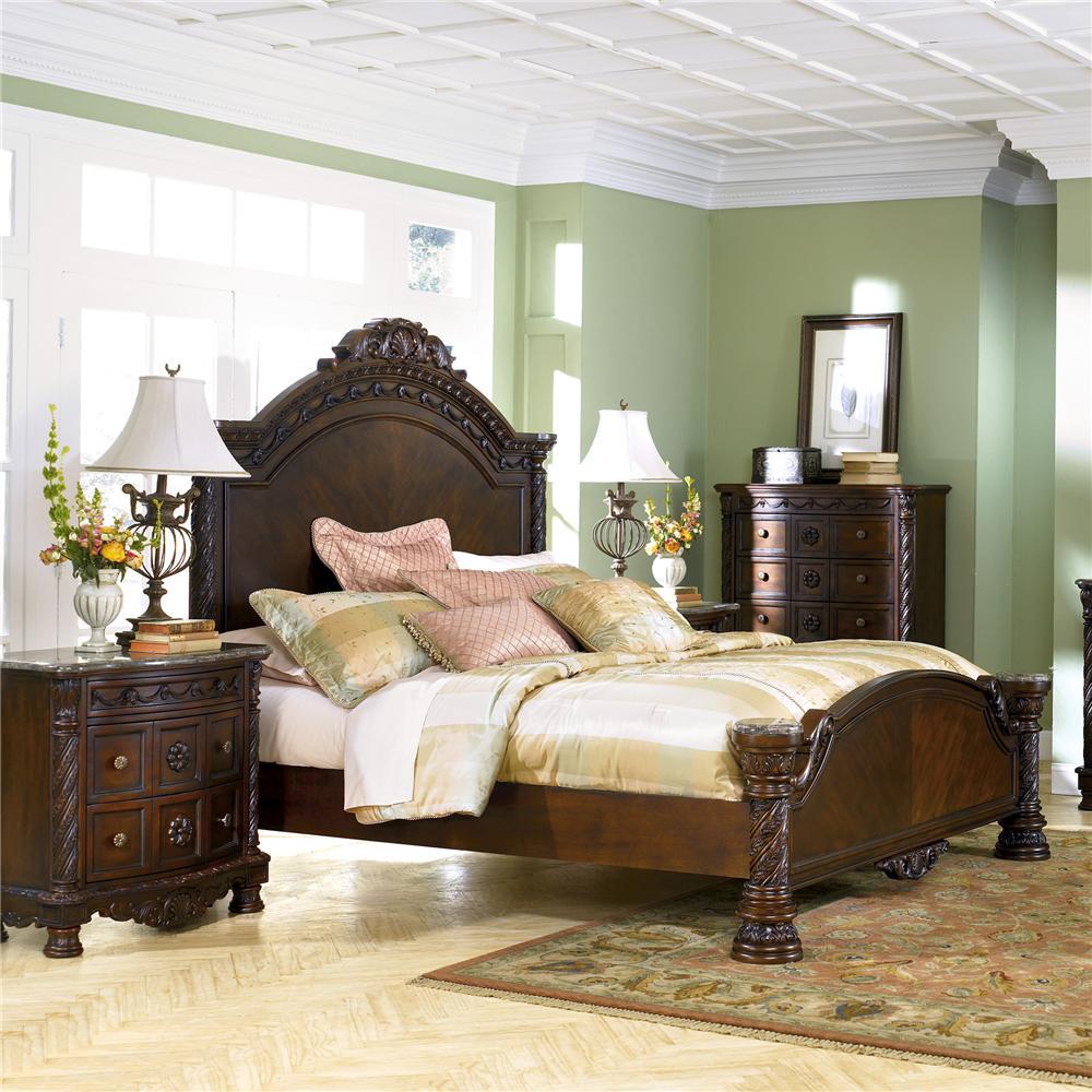 millennium north shore queen panel bed - wayside furniture - panel