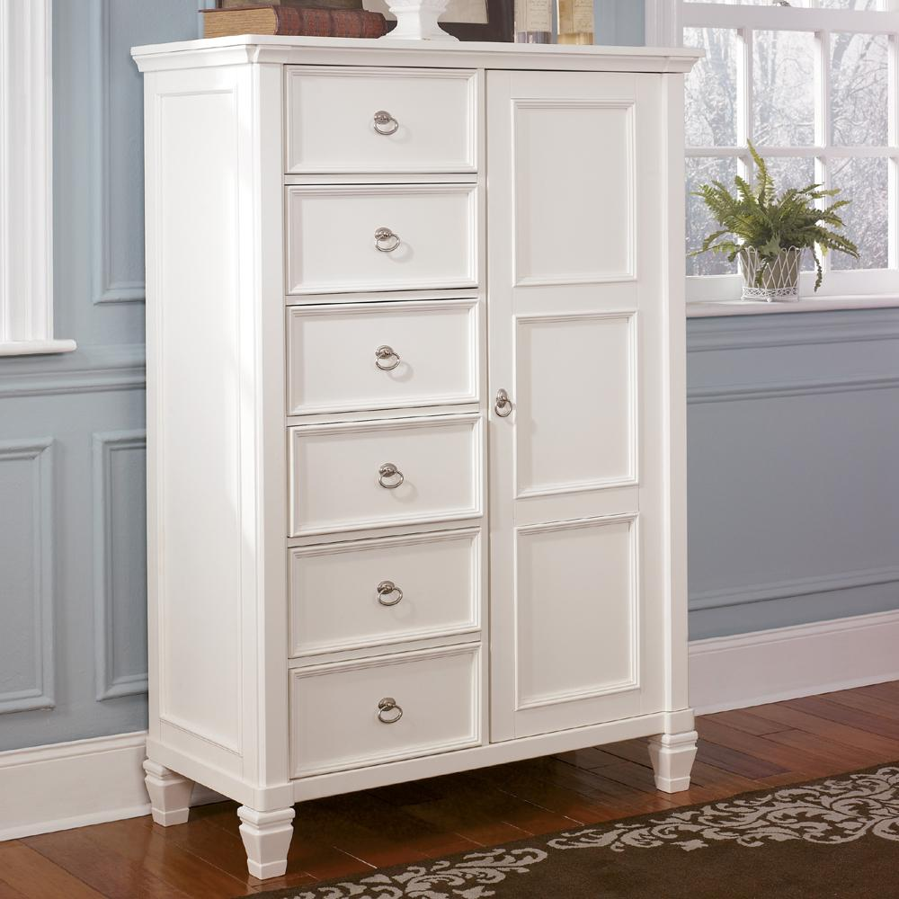 Millennium Prentice Six Drawer Chest With Door Wayside
