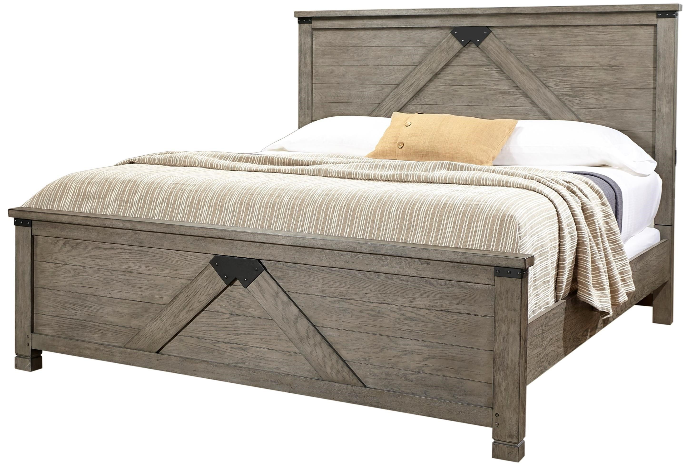Aspenhome Tucker King Panel Bed With USB Ports Darvin