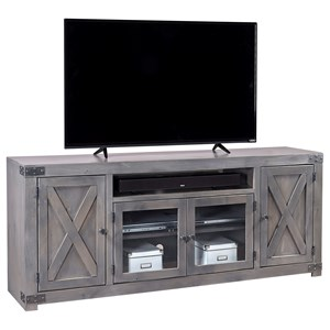 Aspenhome Urban Farmhouse 72 Fireplace Console With 2 Doors Walkers Furniture TV Stands