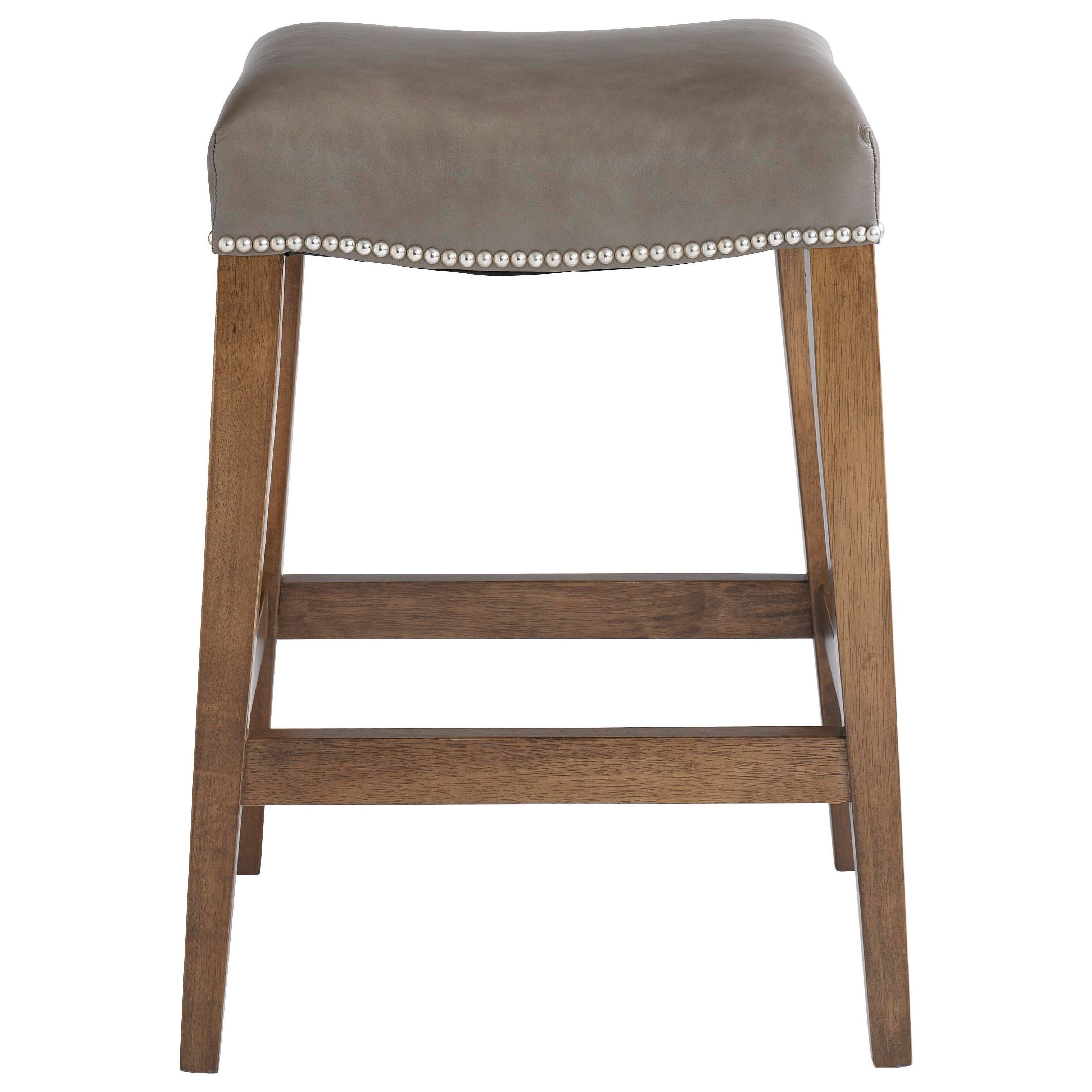 Bassett Bench Made Maple Counter Height Saddle Stool With Upholstered Seat Bassett Of Cool Springs Bar Stools