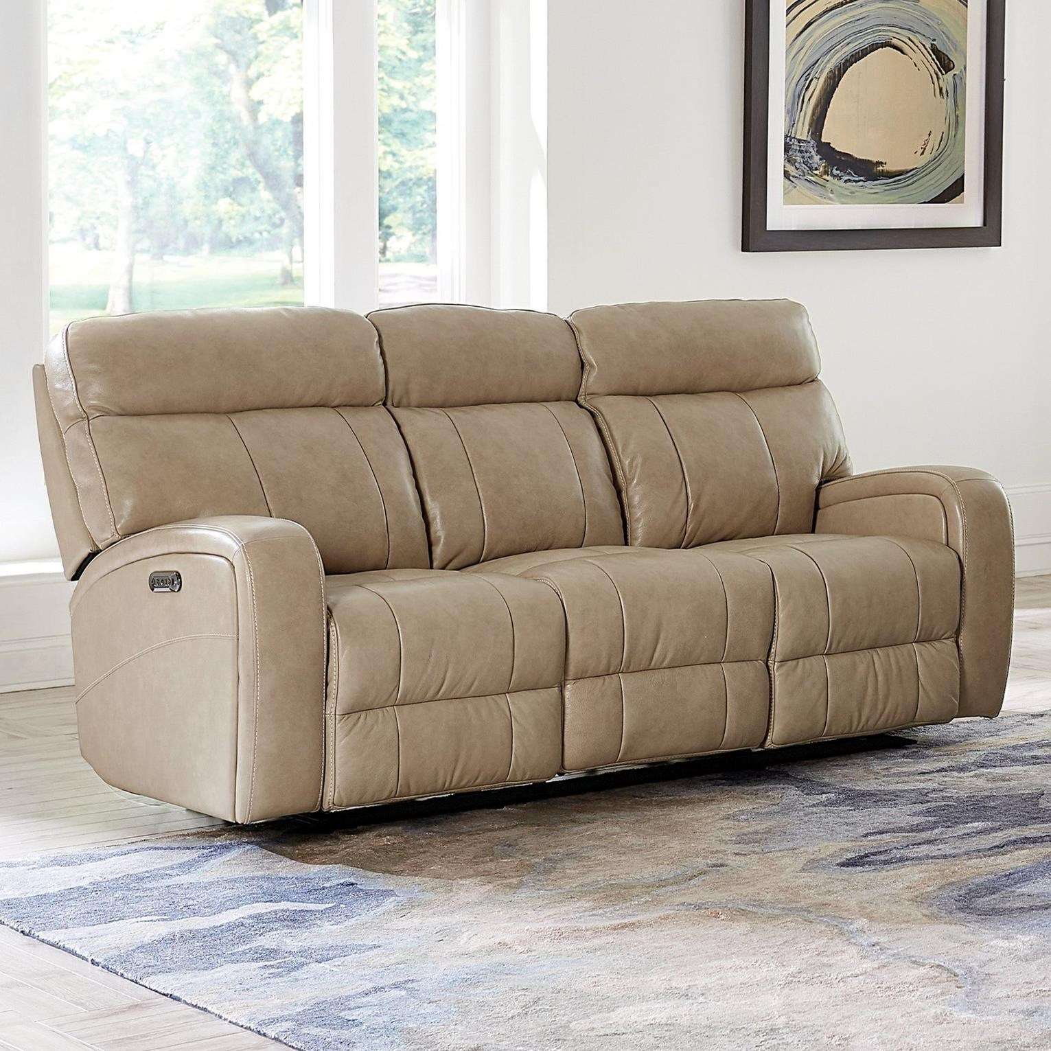 Bassett Club Level Beaumont 3717 P62a Power Reclining Sofa With Usb Charging Ports Becker Furniture Reclining Sofas