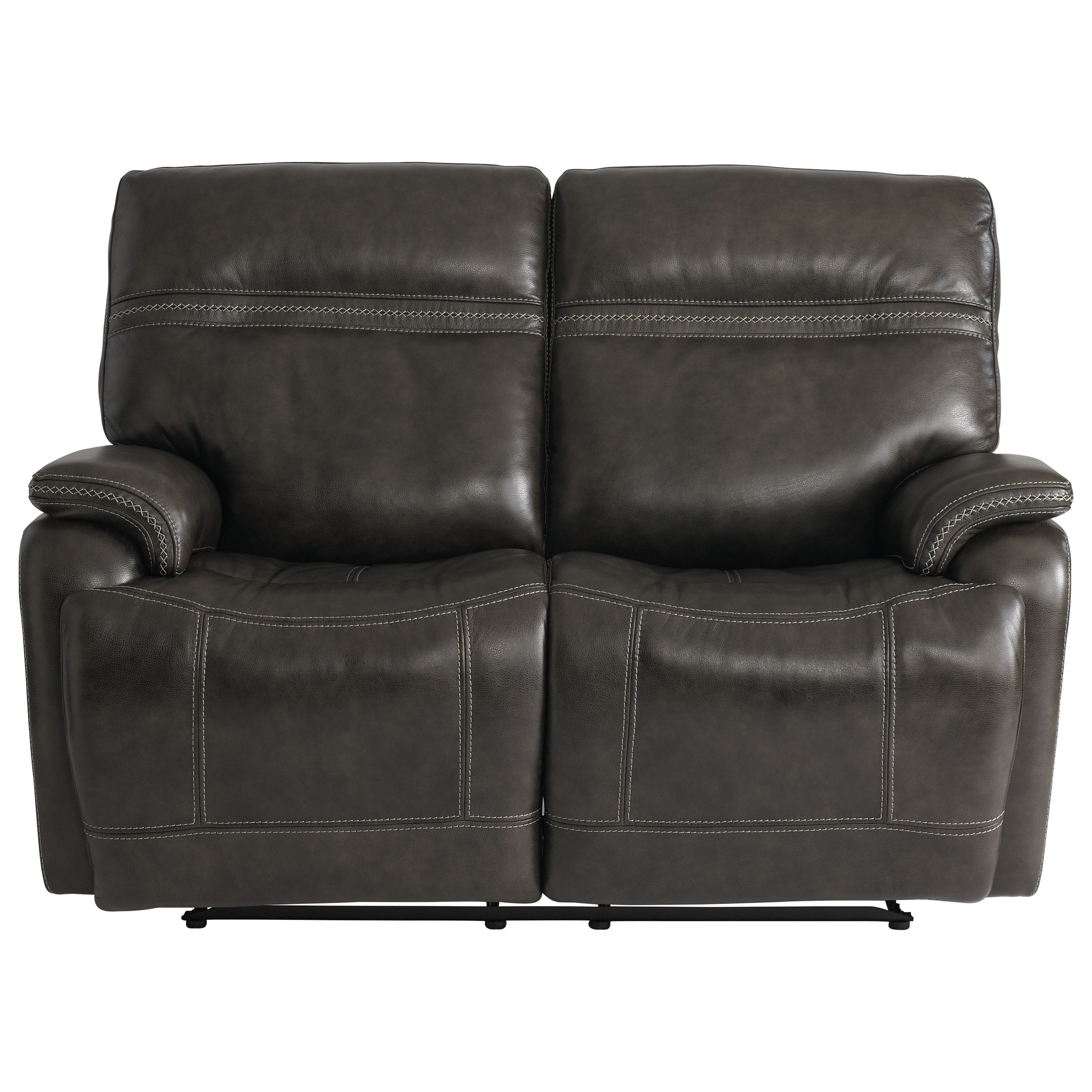 Bassett Club Level Grant Casual Power Reclining Loveseat With Power Headrests Lumbar And Usb Ports Wayside Furniture Reclining Loveseats