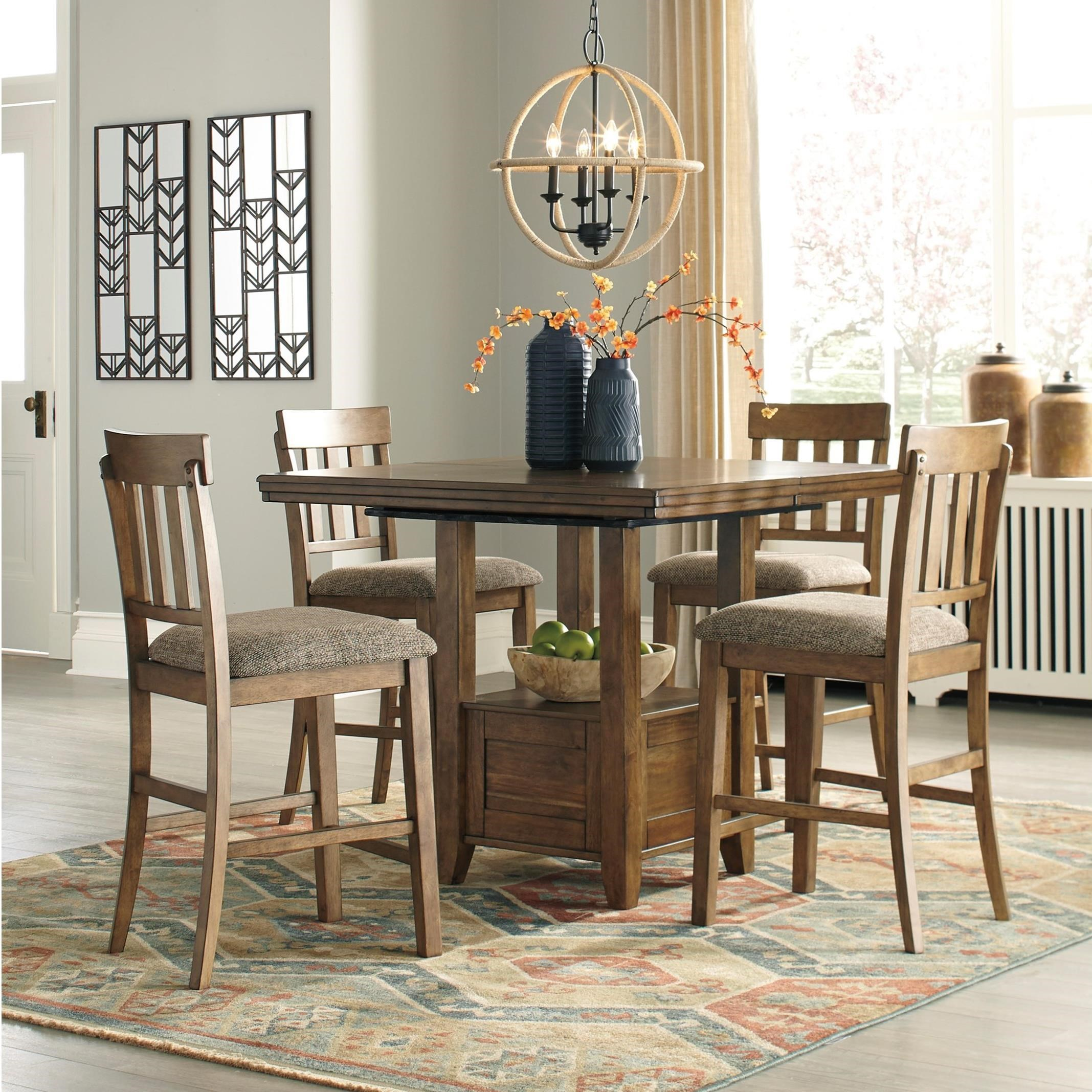 Benchcraft By Ashley Flaybern 5 Piece Pub Dining Set