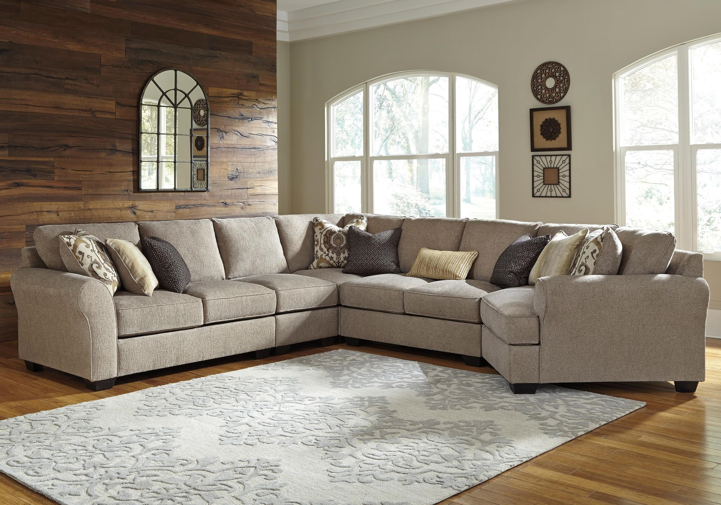 pantomine 5 piece sectional with right cuddler