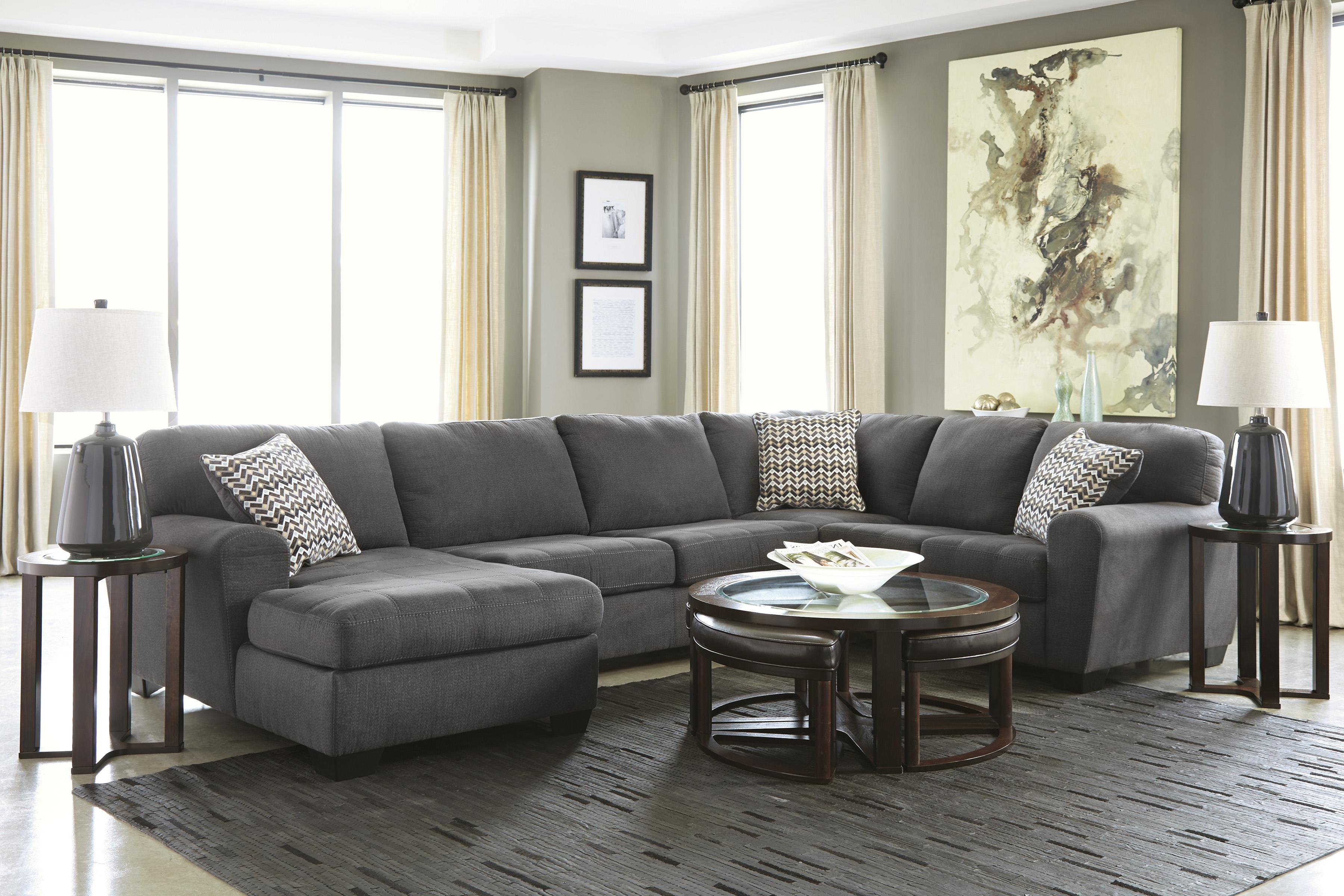 Benchcraft By Ashley Sorenton Contemporary 3 Piece Sectional With Left Chaise Royal Furniture