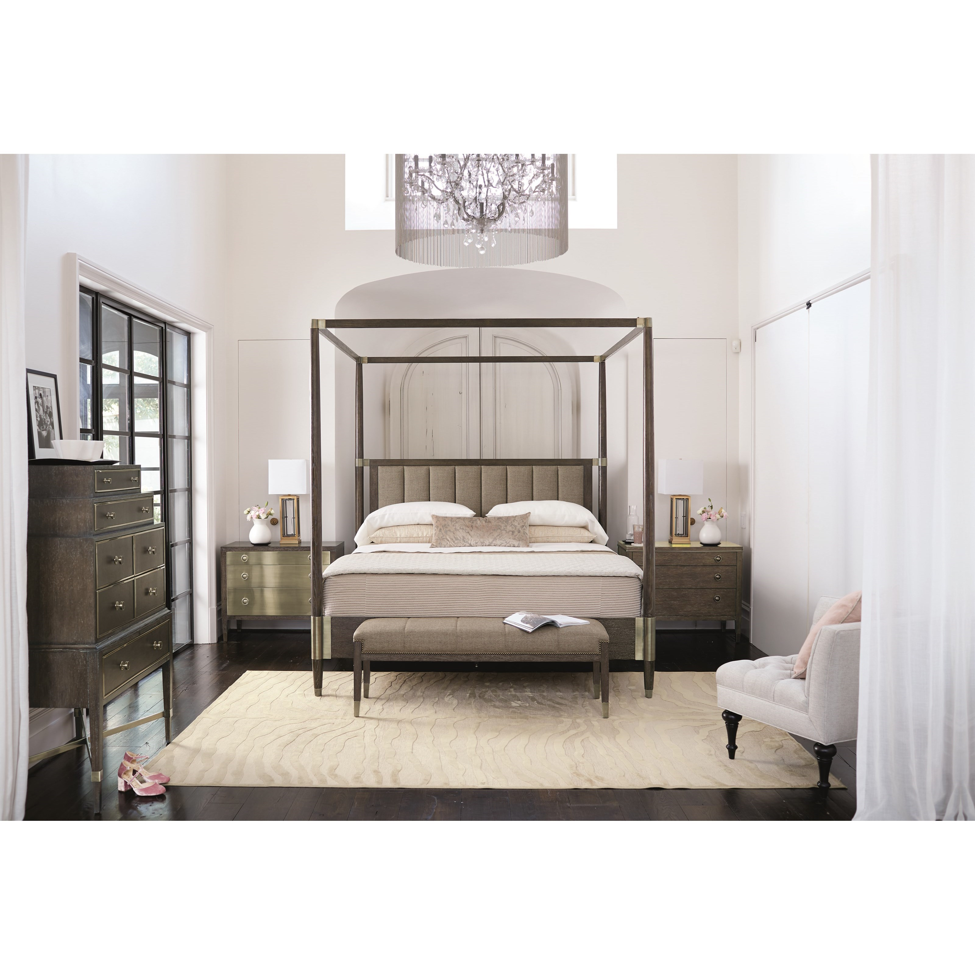 Bernhardt Clarendon King Canopy Bed With Channel