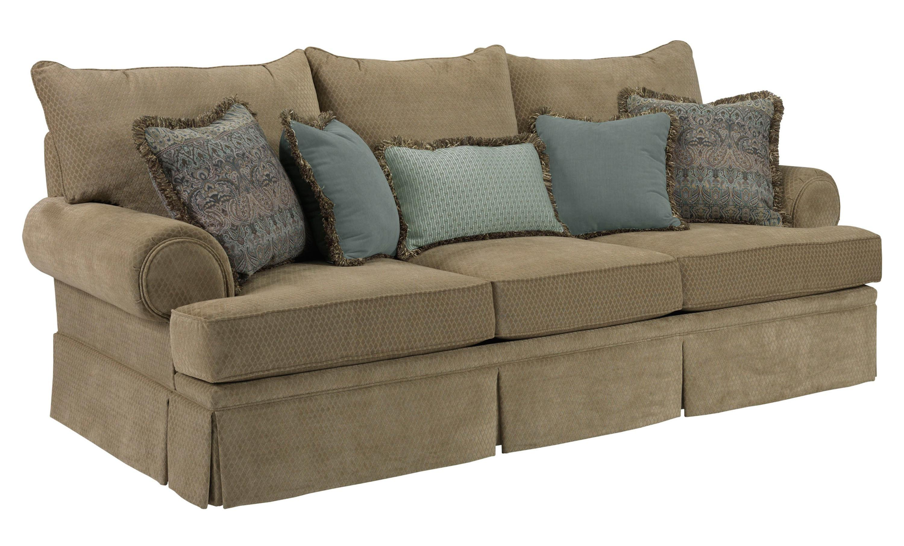 Broyhill Furniture Helena Traditional Skirted Sofa With Rolled