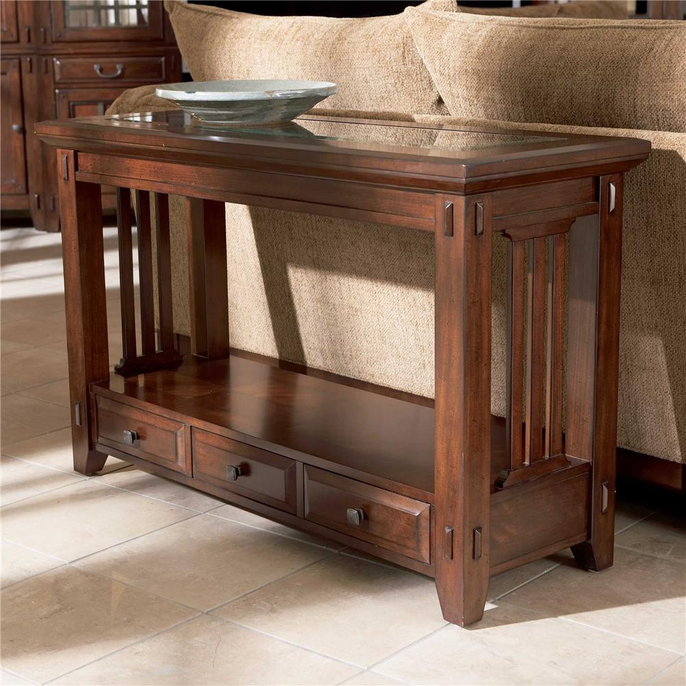 Best Kitchen Gallery: Broyhill Furniture Vantana Three Drawer Sofa Table Darvin of Sofa Table  on rachelxblog.com