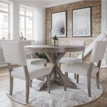 Canadel Loft Custom Dining Customizable Round Table Set Becker Furniture Dining 5 Piece Sets