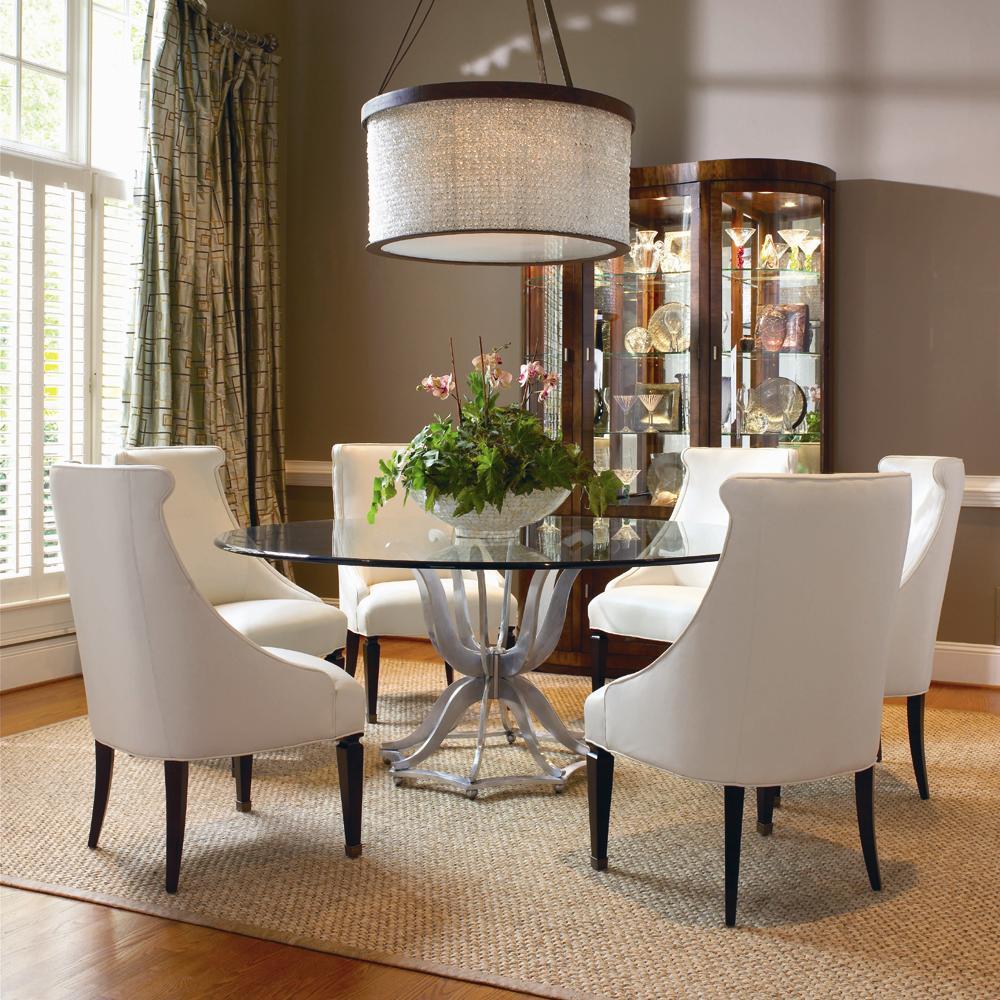 century omni metal base dining table