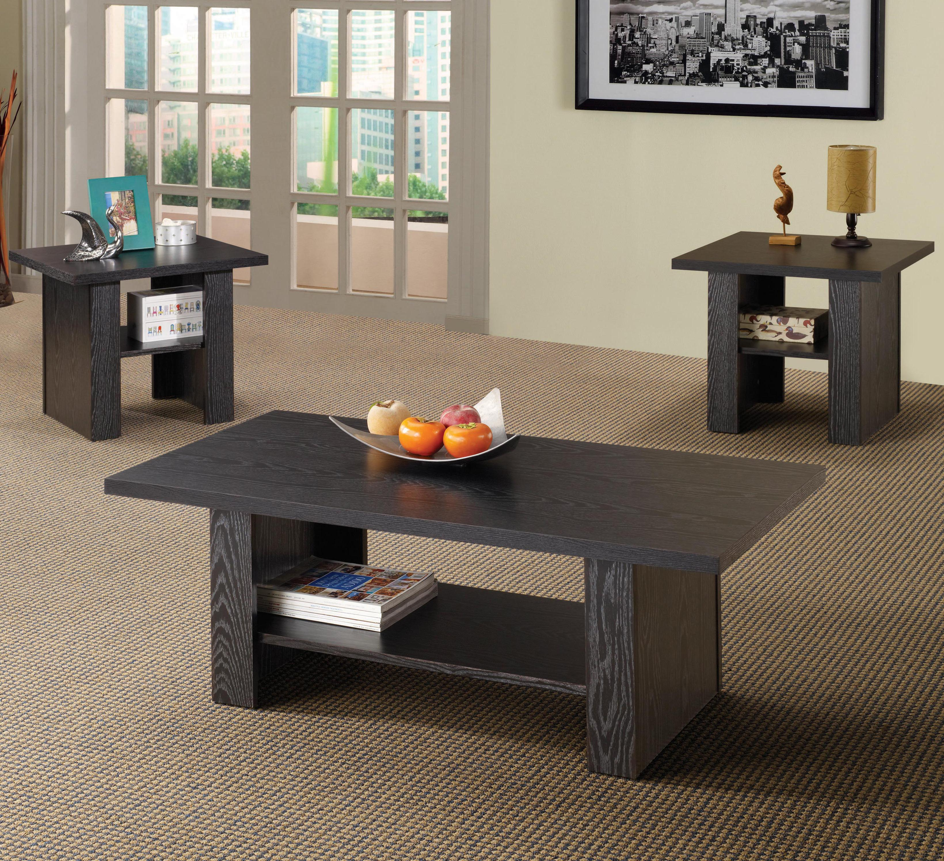 occasional table sets 3 piece table set