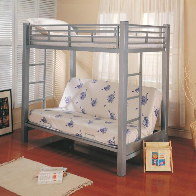 Coaster Bunks Twin Over Futon Bunk Bed With Mattress Item Number 7399