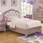 Coaster Caroline Twin Size Bed And Diamond Tufted Headboard A1 Furniture Mattress Upholstered Beds