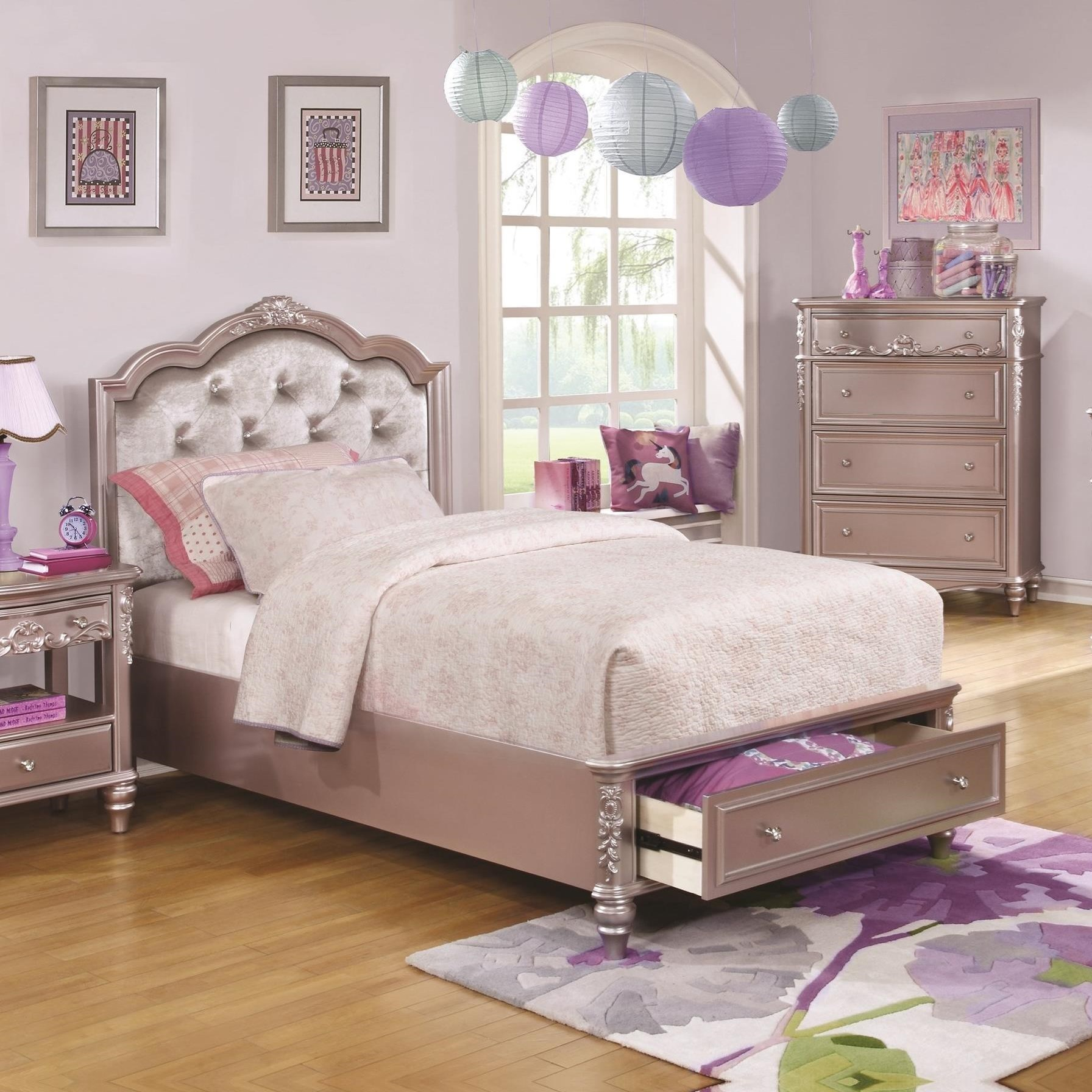 Coaster Caroline Full Size Storage Bed With Diamond Tufted Headboard A1 Furniture Mattress Platform Beds Low Profile Beds