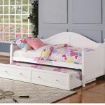 Coaster Daybeds By Coaster White Wooden Daybed With Trundle Value City Furniture Daybeds