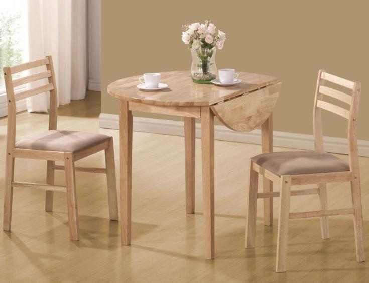 coaster dinettes 130006 casual 3 piece table & chair set | dunk