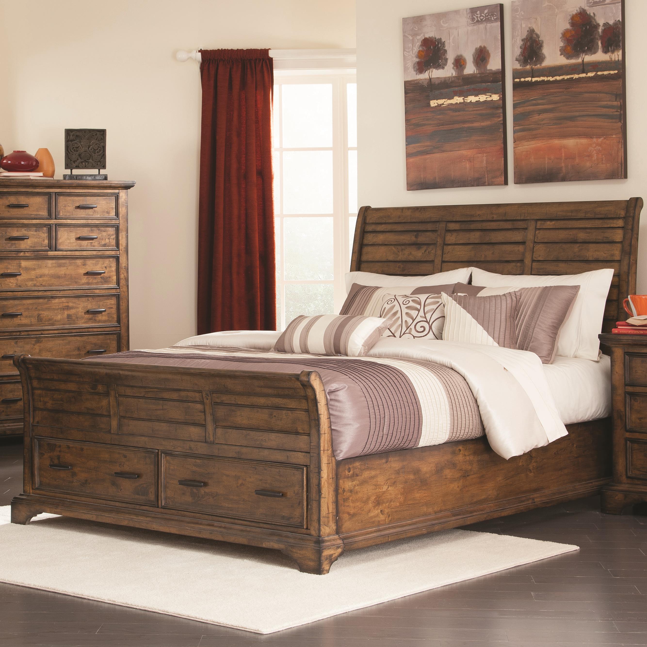 elk grove cal king sleigh bed