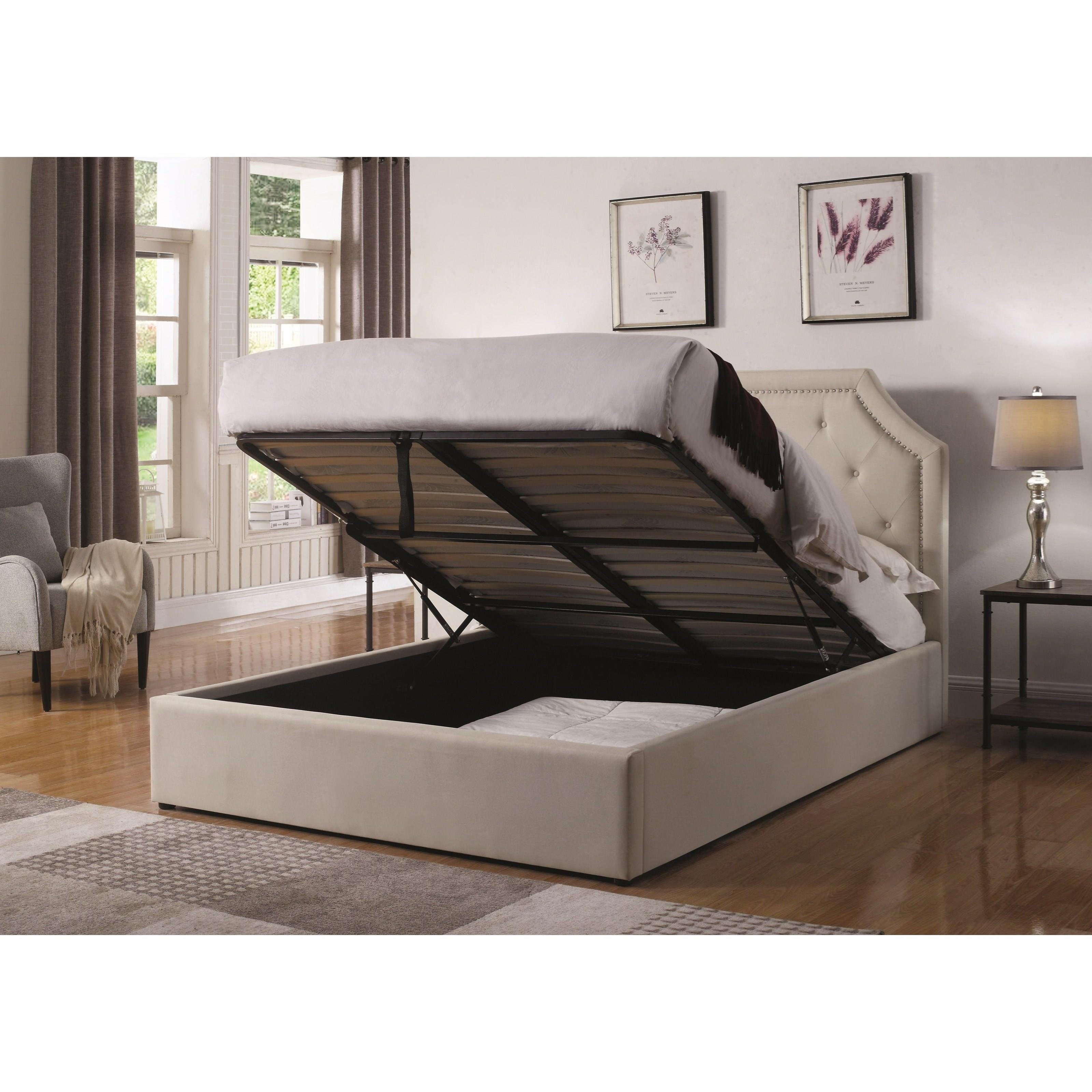 Coaster Hermosa Q Queen Upholstered Bed With