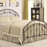 Coaster Iron Beds And Headboards Metal Curved Queen Bed Standard Furniture Panel Beds