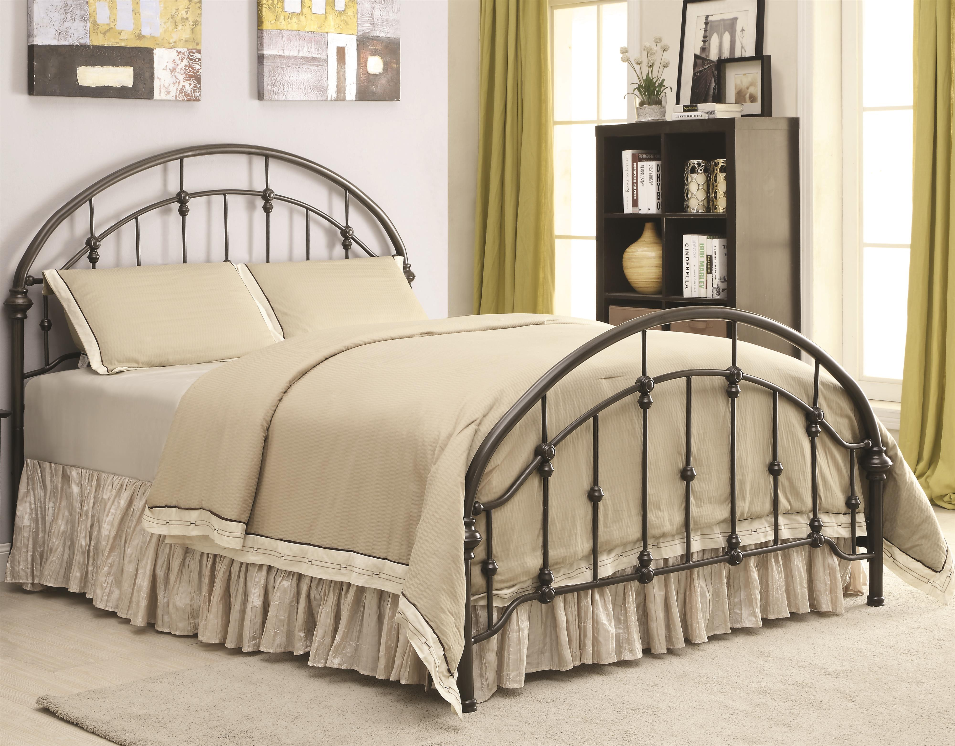 Coaster Iron Beds And Headboards Metal Curved Queen Bed