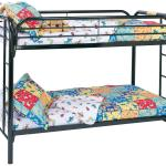 Coaster Metal Beds Twin Over Twin Bunk Bed With Built In Ladders A1 Furniture Mattress Bunk Beds
