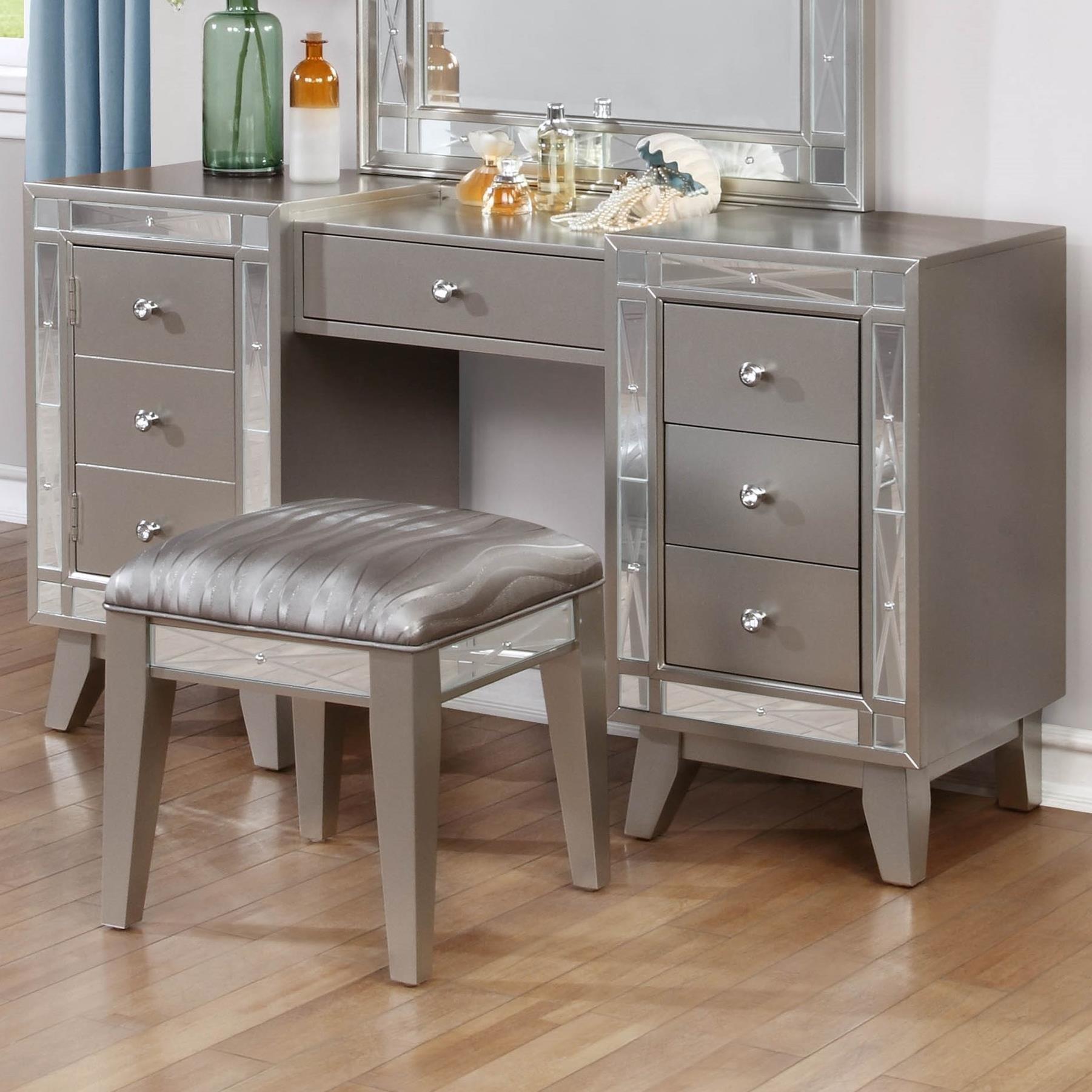 leighton vanity desk stool