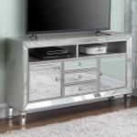 Coaster Tv Stands 722272 Glam Mirrored 60 Tv Stand Corner Furniture Tv Stands