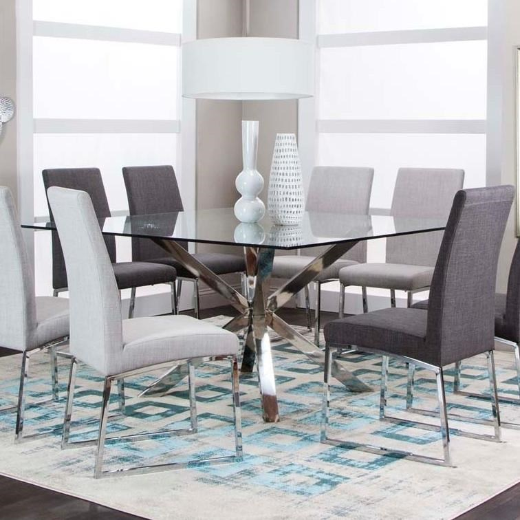 classic 59 square glass dining table