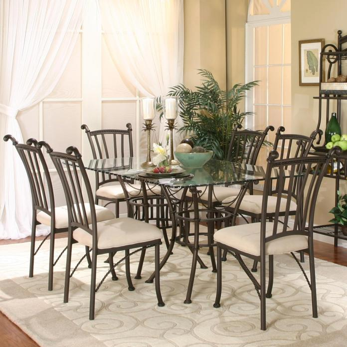 Cramco Inc Denali 72095 42 2x47 6x01 7 Piece Rectangular Glass Table With Chairs Lapeer Furniture Mattress Center Dining 7 Or More Piece Set