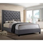 Crown Mark Chantilly Bed Queen Upholstered Bed With Button Tufted Headboard Northeast Factory Direct Upholstered Beds