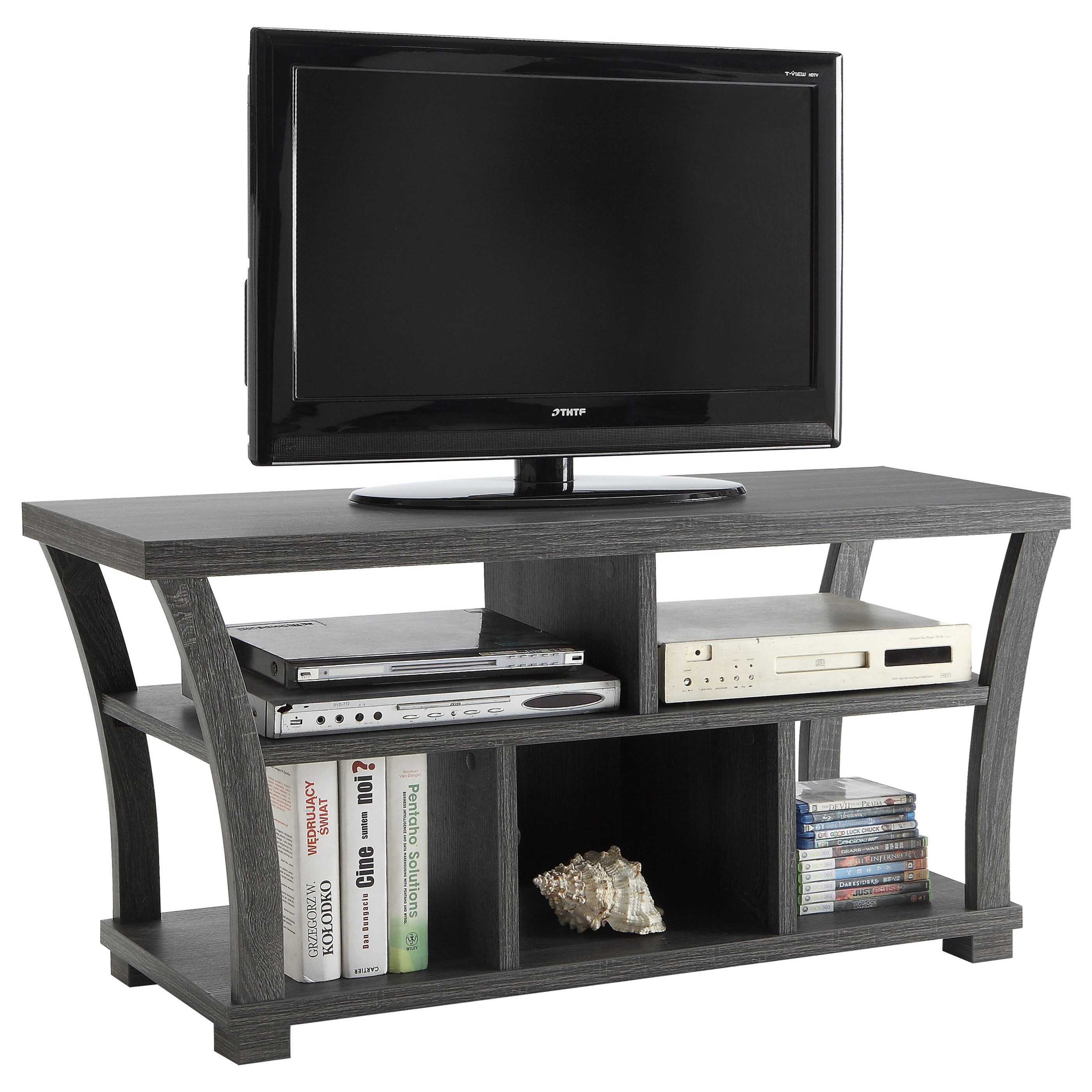 Crown Mark Draper 4806 GY Sleek Modern TV Stand Del Sol