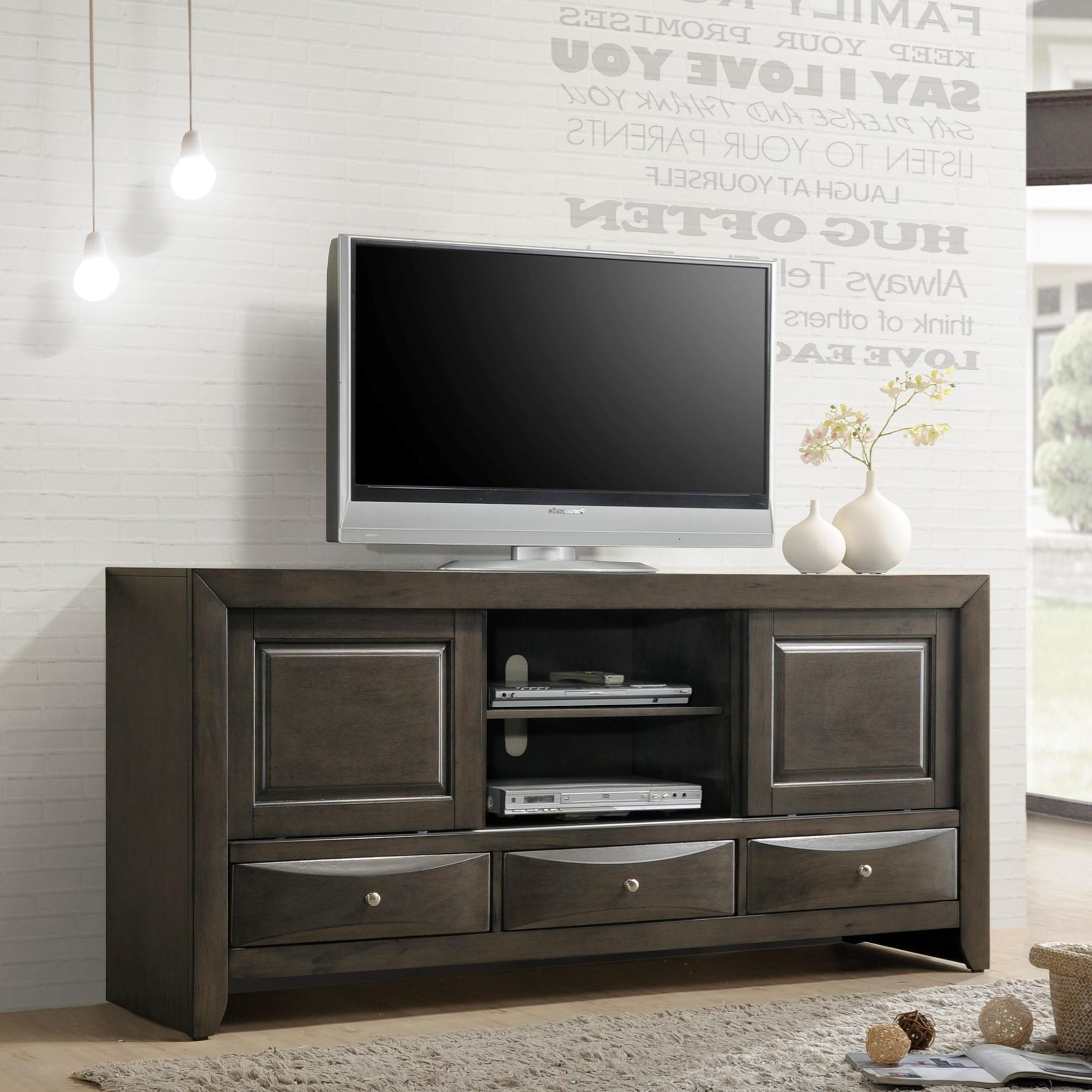 Crown Mark Emily Transitional TV Stand Darvin Furniture TV Stands
