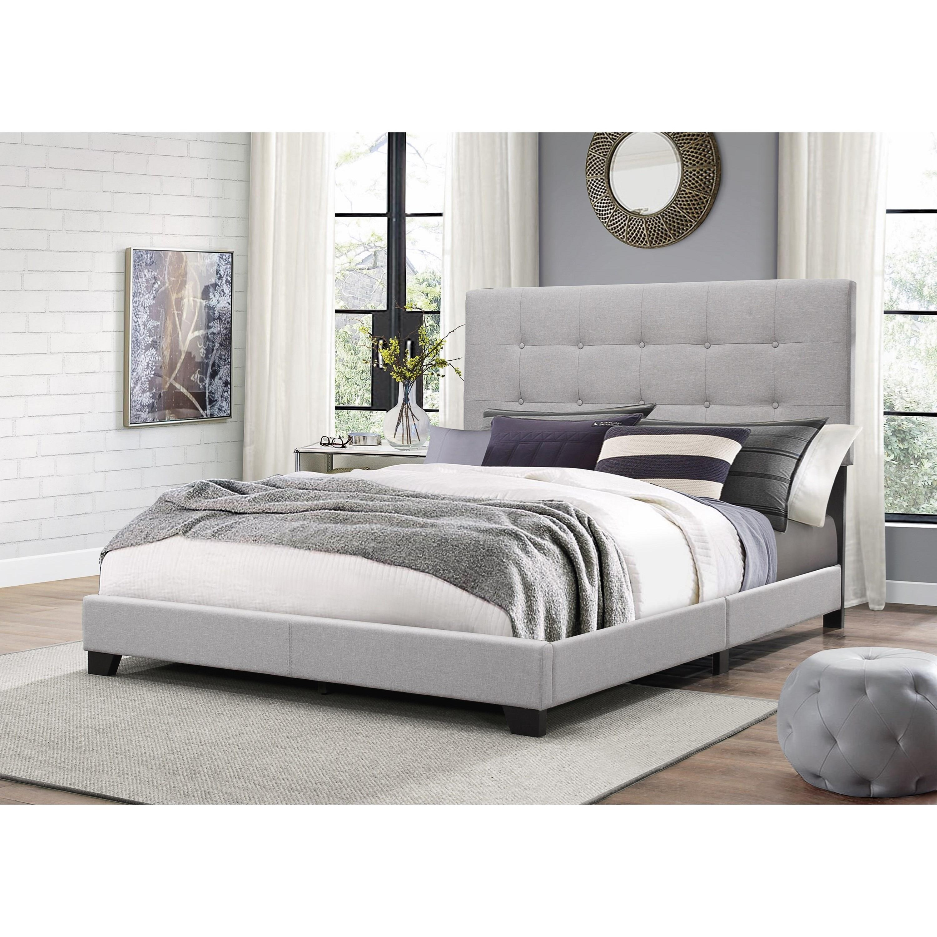 Crown Mark Florence Twin Upholstered Bed With Button Tufting Royal Furniture Upholstered Beds