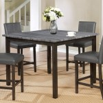 Royal Fair Pompei Two Tone Counter Height Dining Table With Weathered Grey Top Ruby Gordon Home Pub Tables