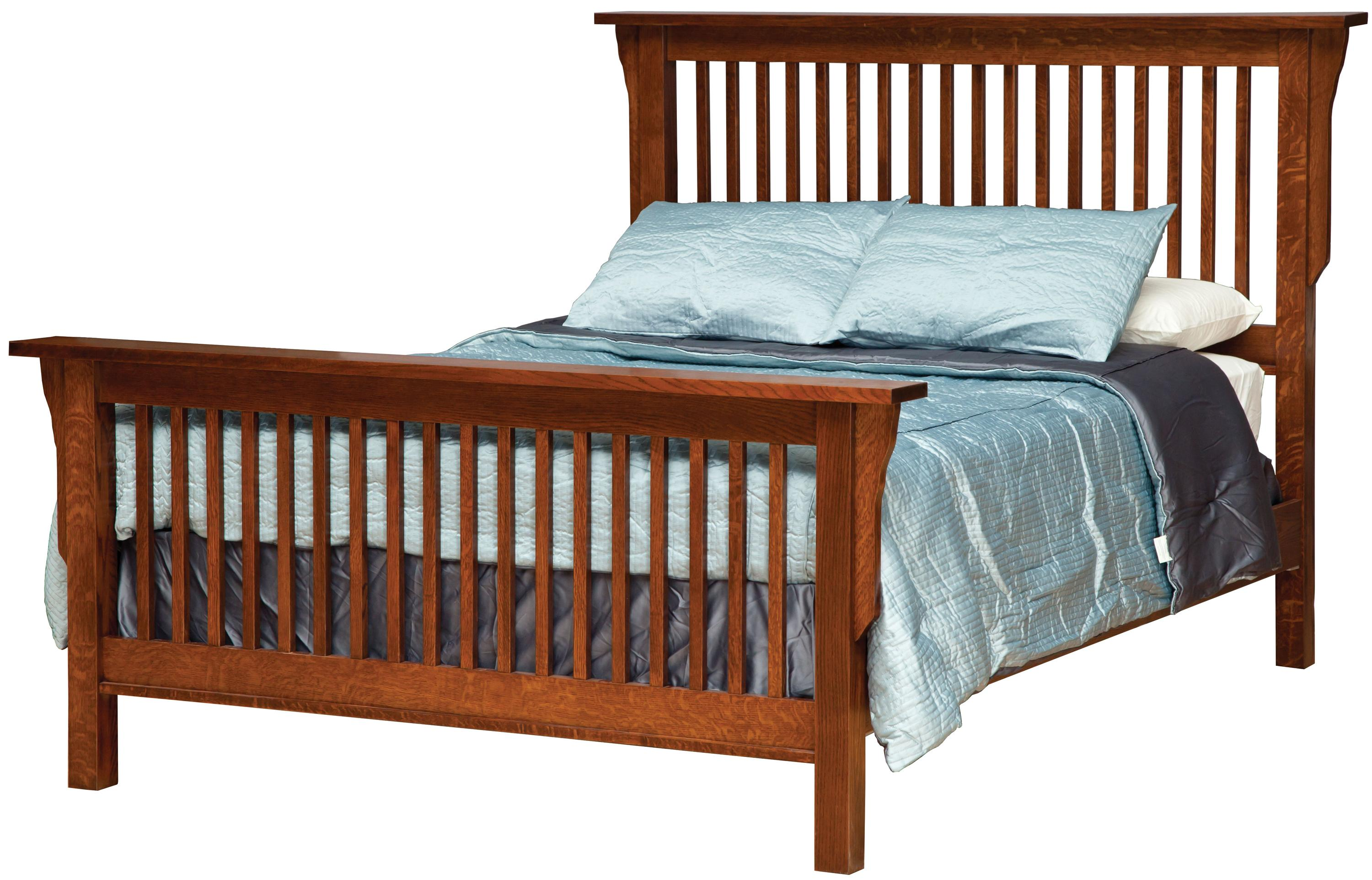 Daniel S Amish Mission King Mission Style Frame Bed With
